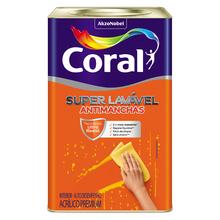 Tinta Acrílica Acetinado Super Lavável Branco 18L Coral