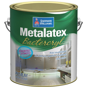 Tinta Acrílica Anti Mofo Acetinado Premium Metalatex Bacterkill Branco 3,6L Sherwin Williams