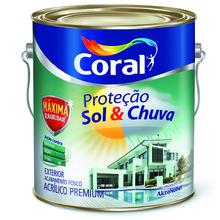 TINTA ACRILICA FOSCO BRANCO N/INF PREMIUM SOL CHUVA 3,6L CORAL
