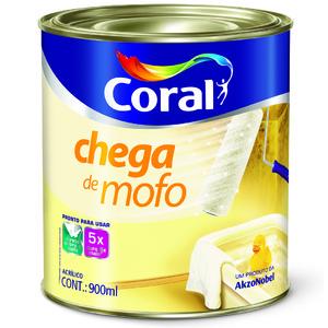 Tinta Acrílica Fosca Branca  Premium Chega Mofo 0,9L Coral