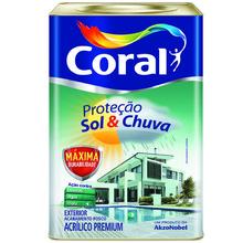 Tinta Acrílica Fosca Branca  Premium Sol Chuva 18L Coral