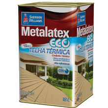 Tinta Acrílica Brilhante Premium Metalatex Eco Telha Térmica Cerâmica Ônix 18 L Sherwin Williams