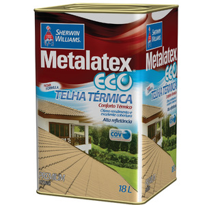 Tinta Acrílica Brilhante Premium Metalatex Eco Telha Térmica Champagne 18 L Sherwin Williams