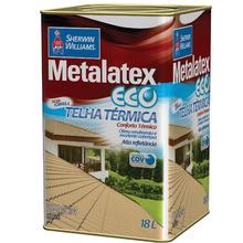 Tinta Acrílica Brilhante Premium Metalatex Eco Telha Térmica Vermelho Óxido 18 L Sherwin Williams