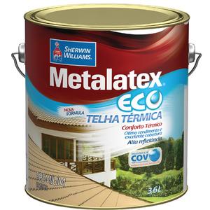 Tinta Acrílica Brilhante Premium Metalatex Eco Telha Térmica Vermelho Óxido 3,60 L Sherwin Williams
