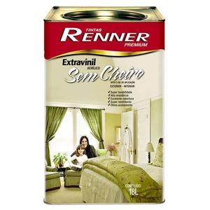 Tinta Acrílica Fosca Extravinil Standard 18l Branca Renner