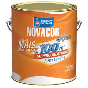 Tinta Acrílica Fosca Standard Novacor Parede Amarela Sol 3,60L Sherwin Williams