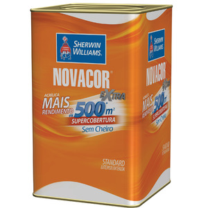 Tinta Acrílica Fosca Standard Novacor Parede Terracota 18L Sherwin Williams