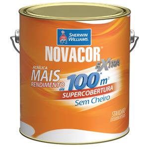 Tinta Acrílica Fosca Standard Novacor Parede Terracota Natural 3,60L Sherwin Williams