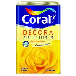 Tinta Acrílica Fosca Premium Ocre Colonial Coralplus Decora Cores 18L