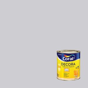 Tinta Acrílica Fosca Premium Decora Algodão Cinzento 3,6L Coral