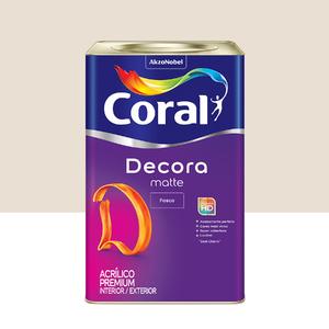 Tinta Acrílica Fosca Premium Decora Algodão Egípcio 18L Coral