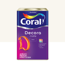 Tinta Acrílica Fosca Premium Decora Branco 18L Coral