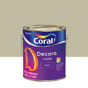 Tinta Acrílica Fosca Premium Decora Folha de Mate 3,6L Coral