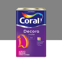 Tinta Acrílica Fosca Premium Decora Imensidão Cinza 18L Coral