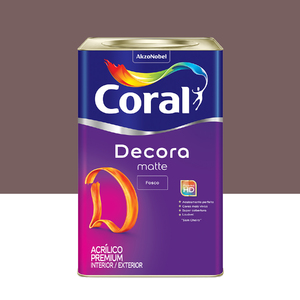 Tinta Acrílica Fosca Premium Decora Licor de Ameixa 18L Coral