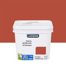 Tinta Acrílica Fosca Standard Vermelho Terra 2,5L Luxens