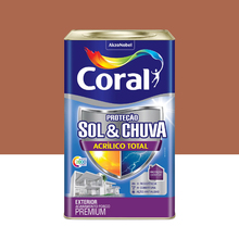 Tinta Acrílica Fosca Total S&C Premium Pote Argila 18L Coral