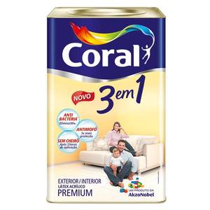 Tinta Acrílica Fosco 3 em 1 18L Angra Coral