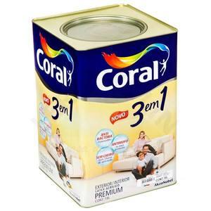 Tinta Acrílica Fosco 3 em 1 18L Pêssego Coral