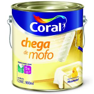 Tinta Acrílica Fosco Chega de Mofo Premium Branco 3,6L Coral