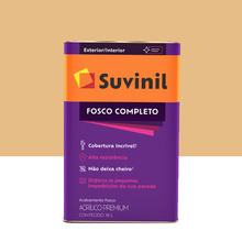 Tinta Acrílica Fosco Completo Premium Mel 18L Suvinil