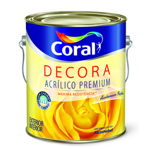 Tinta Acrílica Fosco Premium Decora Ocre Colonial 3,6L Coral