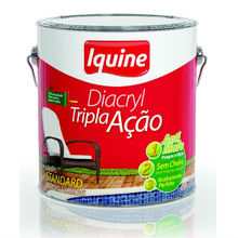 Tinta Acrilíca Fosco Diacryl Tripla Ação 3,6L Branco Neve Iquine
