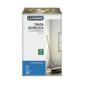 Tinta Acrílica Fosco Econômica Branco 18L Luxens