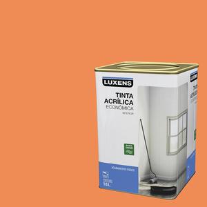 Tinta Acrílica Fosco Econômica Cenoura 18L Luxens