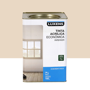 Tinta Acrílica Fosco Econômica Palha 18L Luxens