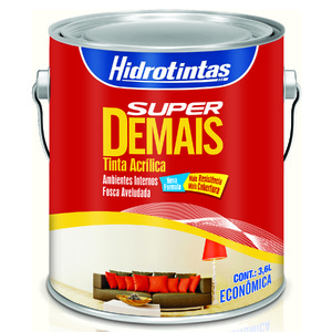 Tinta Acrílica Fosco Econômica Super Demais Rosa Petala 3,6L Hidrotintas