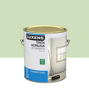 Tinta Acrílica Fosco Econômica Verde Limão 3,6L Luxens