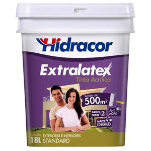 Tinta Acrílica Fosco Extralatex Standard Amarelo Floral 18L Hidracor