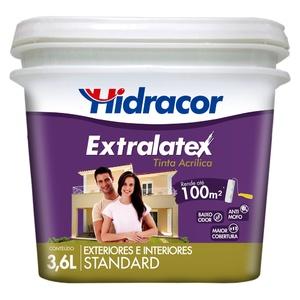Tinta Acrílica Fosco Extralatex Standard Chocolate 3,6L Hidracor