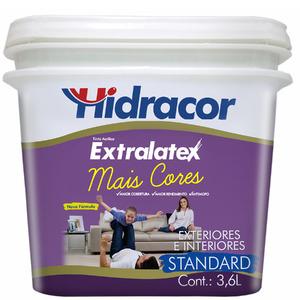 Tinta Acrílica Fosco Extralatex Cravo 3,6L Hidracor