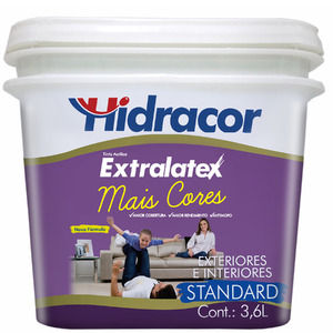 Tinta Acrílica Fosco Extralatex Laranja Citrico 3,6L Hidracor