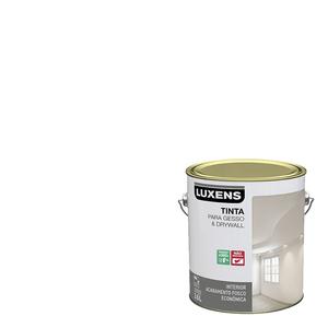 Tinta Acrílica Fosco Gesso e Drywall Econômica Branco 3,6L Luxens