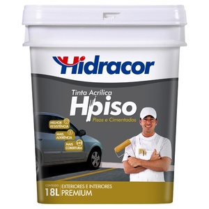 Tinta Acrílica Fosco Hpiso Premium Cinza 18L Hidracor