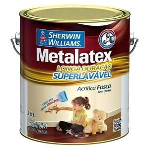 Tinta Acrílica Fosco Metalatex Superlavável 3,6L Bianco Sereno Sherwin Williams