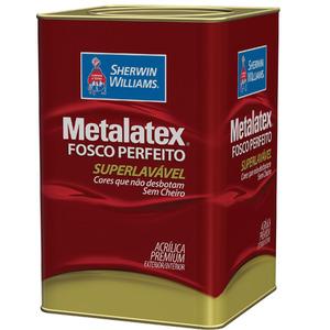 Tinta Acrílica Fosco Premium Metalatex Pérola 18L Sherwin Williams