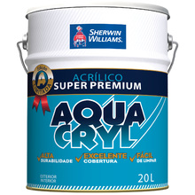 Tinta Acrílica Fosco Premium Aquacryl Branco 20L Sherwin Williams