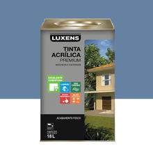 Tinta Acrílica Fosco Premium Azul Danúbio 18L Luxens