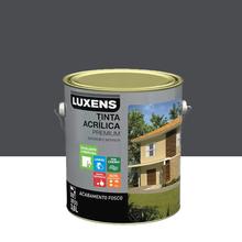 Tinta Acrílica Fosco Premium Cinza Escuro 3,6L Luxens