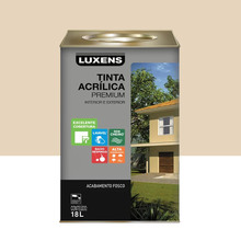 Tinta Acrílica Fosco Premium Palha 18L Luxens
