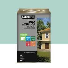 Tinta Acrílica Fosco Premium Verde Mar 18L Luxens