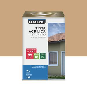 Tinta Acrílica Fosco Standard Areia 18L Luxens