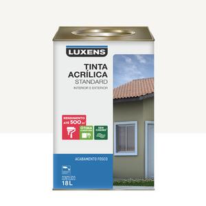 Tinta Acrílica Fosco Standard Branco 18L Luxens