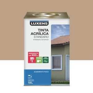 Tinta Acrílica Fosco Standard Camurça 18L Luxens