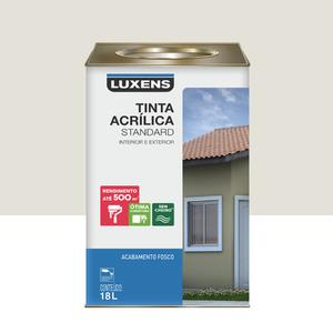 Tinta Acrílica Fosco Standard Gelo 18L Luxens